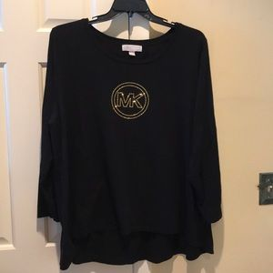 Michael Kors black top rhinestone plus size 3X